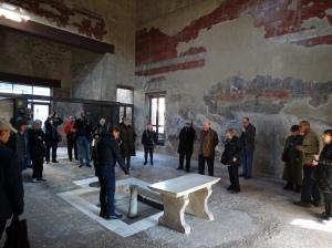 In the atrium of a home in Herculaneum
