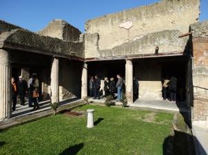 A residential courtyard in Herculaneum