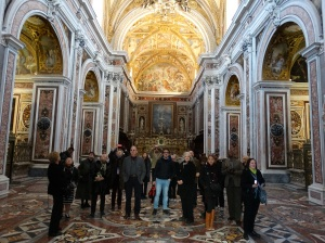 At the church in the monastery of San Martino