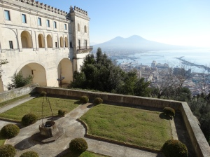 San Martino overlooks Naples and Mt. Vesuvius