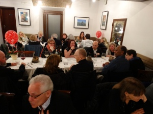 Our farewell dinner in Rome